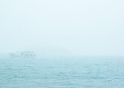 A rough sea in Qingdao