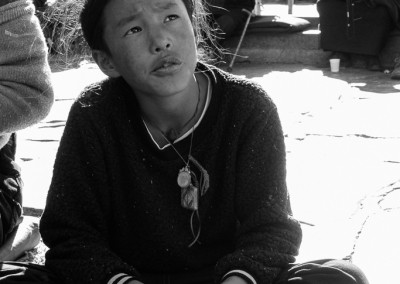 A Tough Tibetan Boy at Jokhang Temple