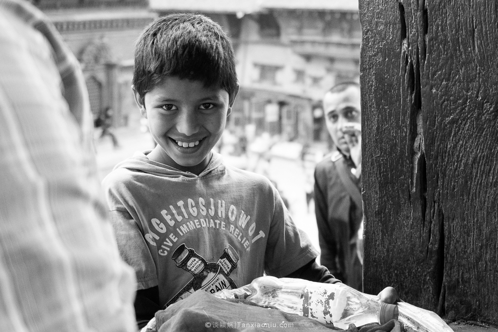 A Nepali Girl Selling Mineral Water at Durbar Square