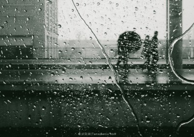 Listening to the Rain on a Train