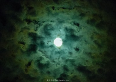 A Full Moon Night in a Monastery