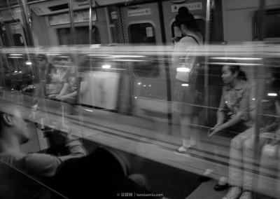 On the Subway of HongKong