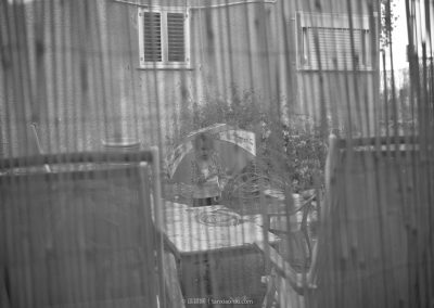 An Israeli Girl Behind the Fence