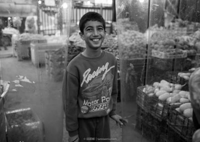 An Arabic Boy at Grocery