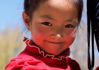 A Tibet Girl at Potala Palace