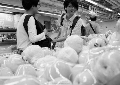 Lihua and Gingin at Supermarket
